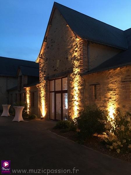 éclairage salle réception - Domaine des Rues (49)