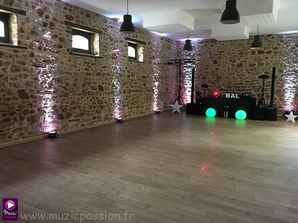 éclairage salle soirée dansante