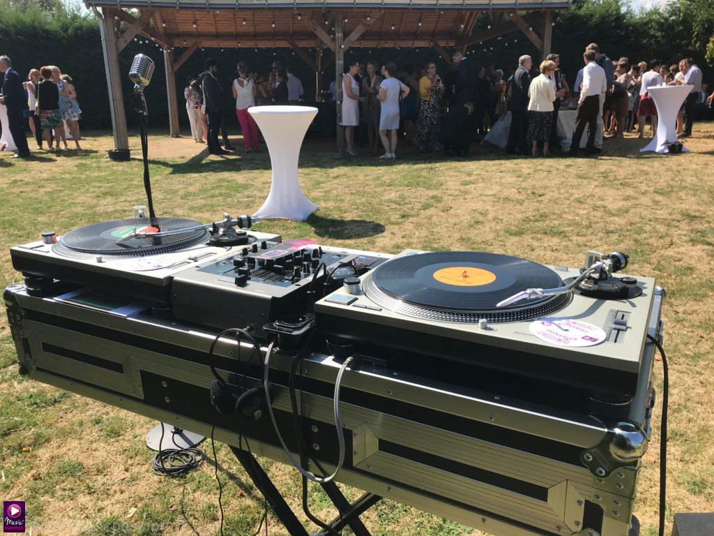 Platines vinyles - cocktail mariage - Angers