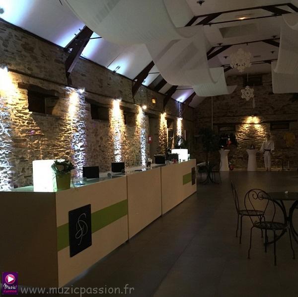 éclairage salle cocktail - Nouvelle Grange de la Chevalerie (49)