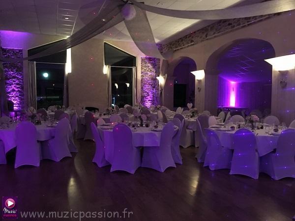 éclairage salle mariage - Domaine de la Rouliere (49)