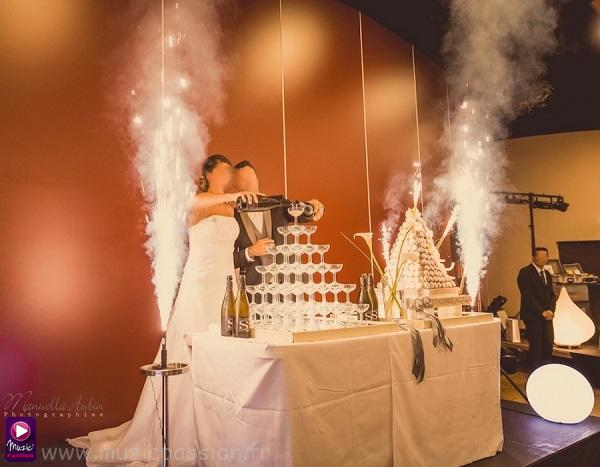 feu artifice - présentation dessert mariage